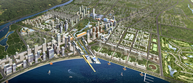 In Songdo City, South Korea, Gale International is building the International Business District(IBD)on reclaimed landalong the Yellow Sea.