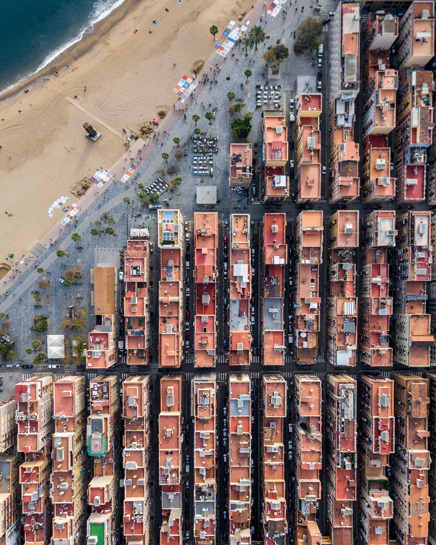 Aerial Photos of Barcelona by Márton Mogyorósy