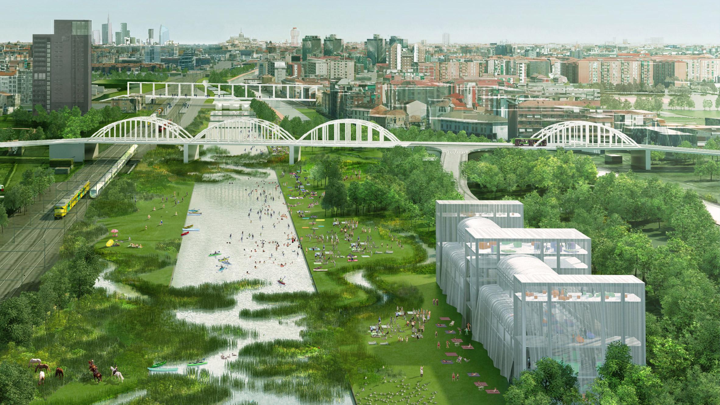 Agenti Climatici masterplan for Milan by OMA and Laboratorio Permanente