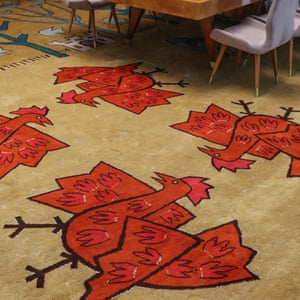 A carpet inside the Serbia saloon in the Palata Srbija building