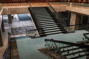 The Great Hall inside The Palata Srbija building in Belgrade,