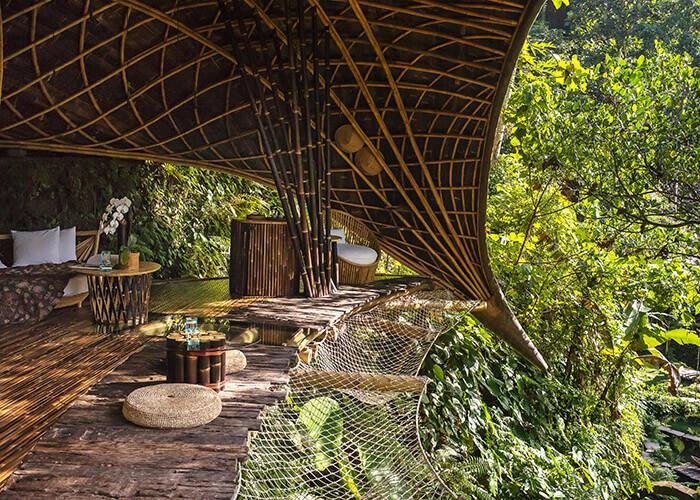 bamboo construction Bambu Indah resort bali