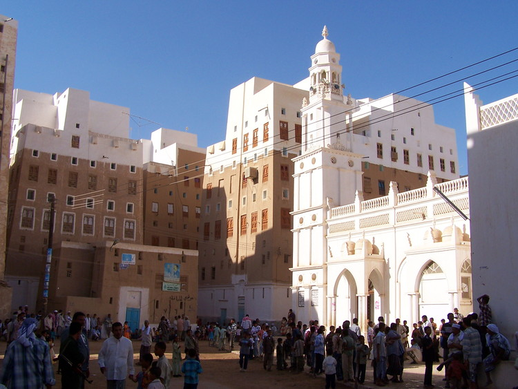 Haroon Alrashid Mosque in Shibam. Image © Flickr CC user Najeeb Musallam