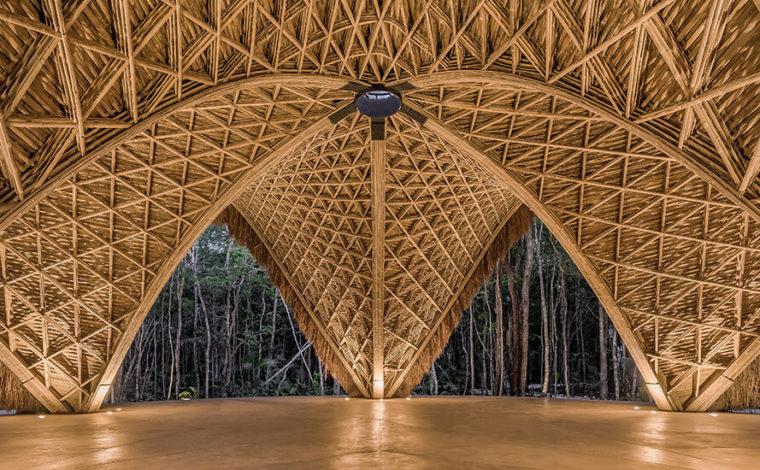 bamboo construction luum temple tulum mexico