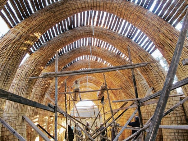 An entire Ma'dan house, known as a mudhif, is built entirely of qasab reed and can be taken down and re-erected in a day.