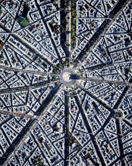 Paris, France. Created by @dailyoverview, source imagery @maxartechnologies