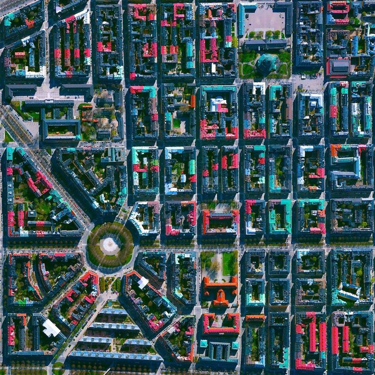 Stockholm, Sweden. Created by @dailyoverview, source imagery: @maxartechnologies