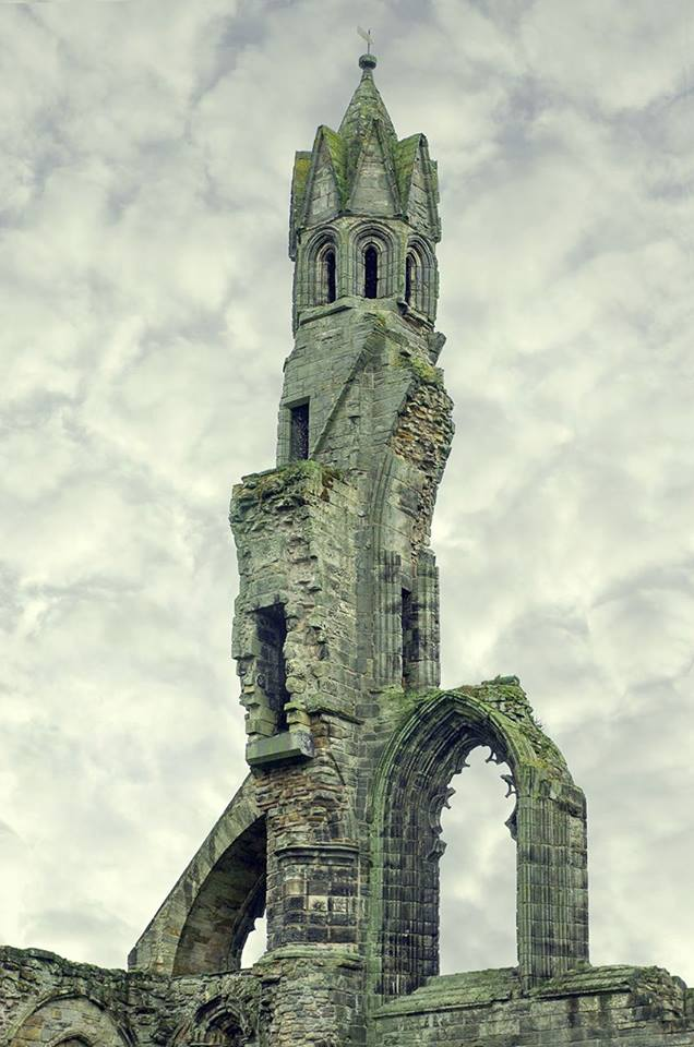 St Andrew_s Cathedral is a ruined Roman Catholic cathedral in St Andrews, Fife, Scotland. It was built in 1158