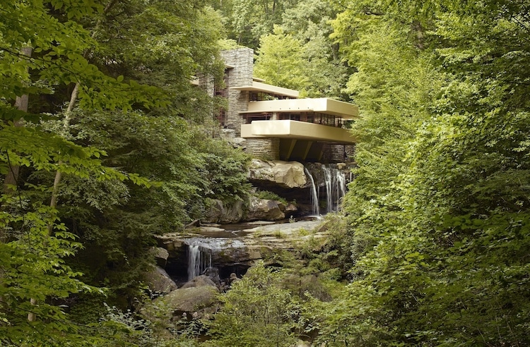 Fallingwater Falling Water Frank Lloyd Wright Organic Architecture